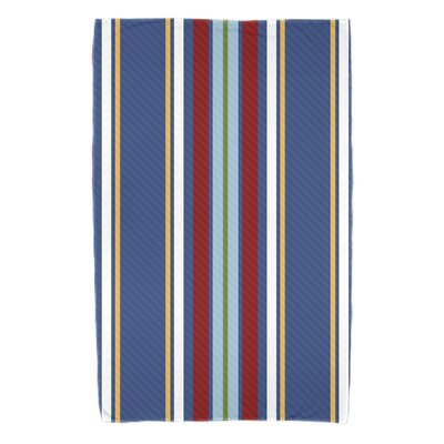 Petersfield Multi-Stripe Bath Towel Color: Blue