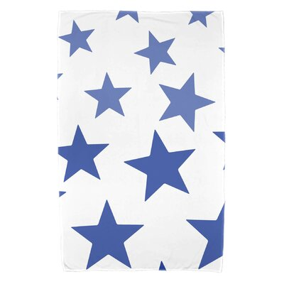 Petersfield Just Stars Beach Towel Color: Blue
