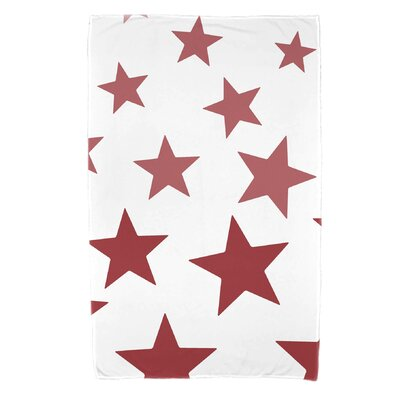 Petersfield Just Stars Beach Towel Color: Red