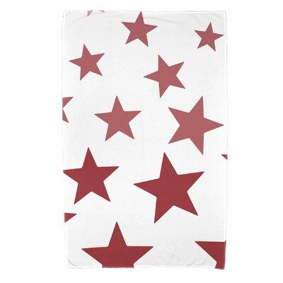 Petersfield Just Stars Beach Towel Color: Red