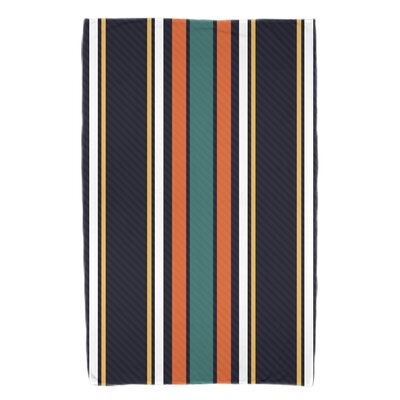 Petersfield Multi-Stripe Beach Towel Color: Orange