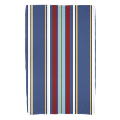 Petersfield Multi-Stripe Beach Towel Color: Blue