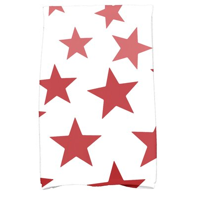 Petersfield Just Stars Hand Towel Color: Red
