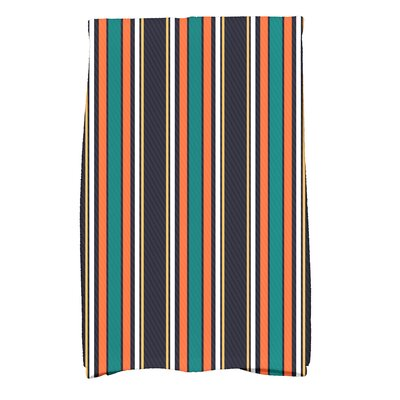 Petersfield Multi-Stripe Hand Towel Color: Orange