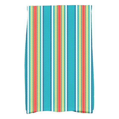 Petersfield Multi-Stripe Hand Towel Color: Turquoise