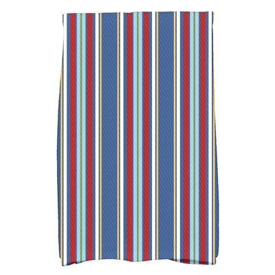 Petersfield Multi-Stripe Hand Towel Color: Blue