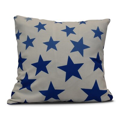 Petersfield Just Stars Indoor/Outdoor Throw Pillow Color: Blue, Size: 18 H x 18 W