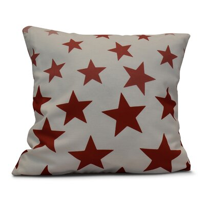 Petersfield Just Stars Indoor/Outdoor Throw Pillow Size: 20 H x 20 W, Color: Red