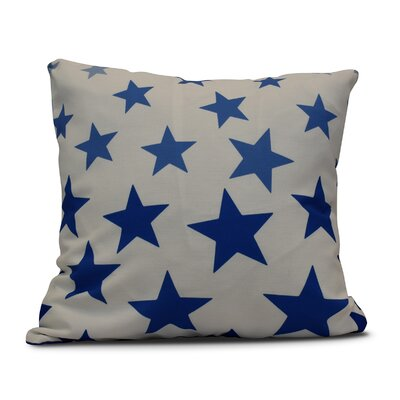 Petersfield Just Stars Throw Pillow Color: Blue, Size: 18