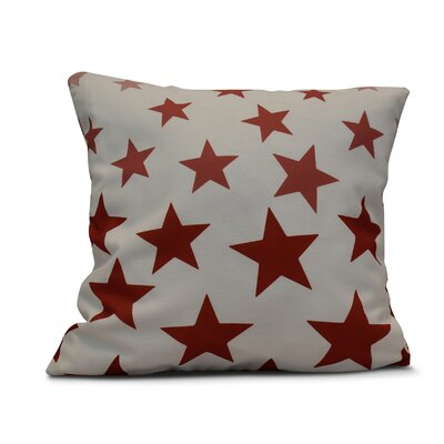 Petersfield Just Stars Throw Pillow Size: 16 H x 16 W, Color: Red