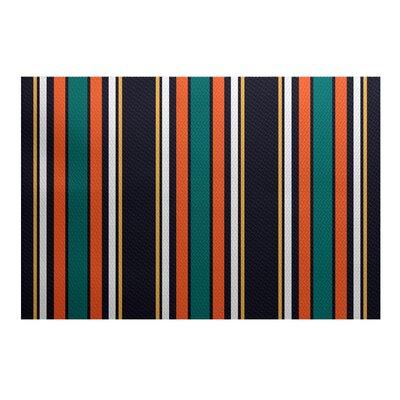 Petersfield Orange/Black Area Rug