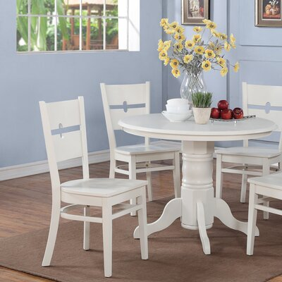 Langwater 3 Piece Wood Bistro Set Color: Linen White