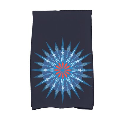 Hancock Sea Wheel Novelty Print Hand Towel Color: Navy Blue