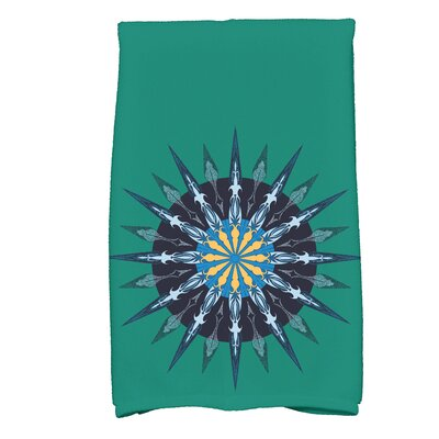 Hancock Sea Wheel Novelty Print Hand Towel Color: Green