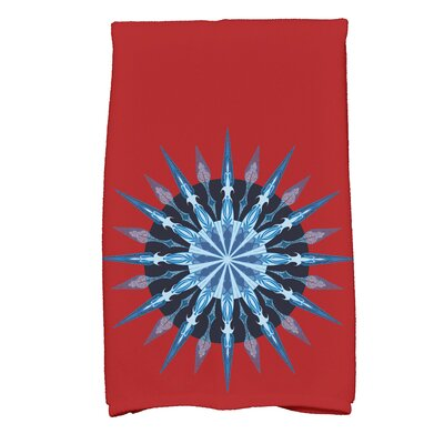 Hancock Sea Wheel Novelty Print Hand Towel Color: Red