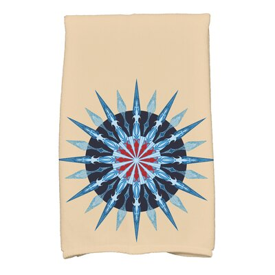 Hancock Sea Wheel Novelty Print Hand Towel Color: Taupe/Beige