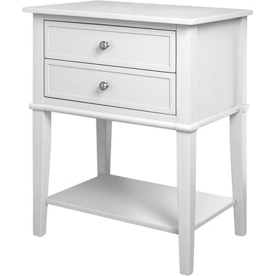 Winfield End Table With Storage Color: White