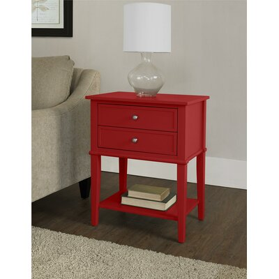 Banbury 2 Drawer End Table Finish: Red
