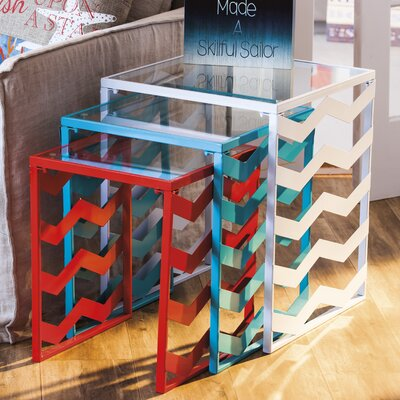 Breakwater Bay Dempsey 3 Piece Nesting Tables