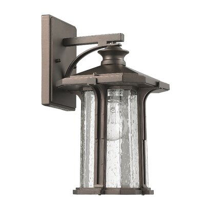 Whitmore 1-Light Outdoor Wall Lantern Finish: Rubbed Bronze