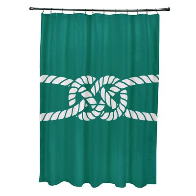 Hancock Carrick Bend Geometric Shower Curtain Color: Green