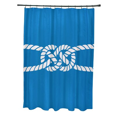 Hancock Carrick Bend Geometric Shower Curtain Color: Blue
