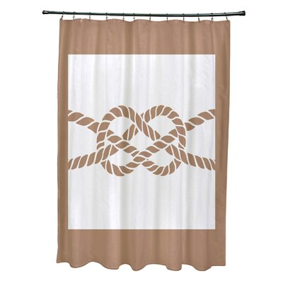 Hancock Nautical Knot Geometric Shower Curtain Color: Beige/Taupe