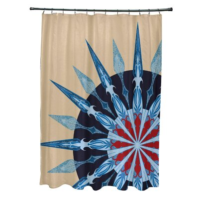 Hancock Sailors Delight Geometric Print Shower Curtain Color: Taupe