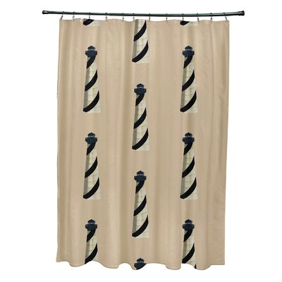 Hancock Beacon Geometric Print Shower Curtain Color: Taupe