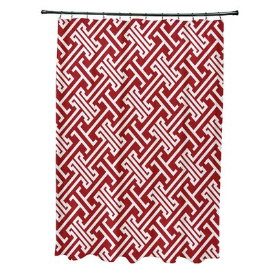Hancock Leeward Key Geometric Shower Curtain Color: Red