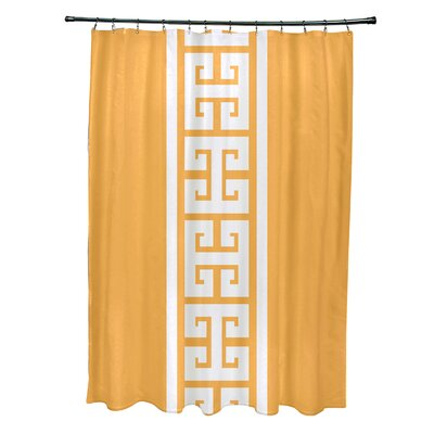 Hancock Polyester Key Stripe Stripe Shower Curtain Color: Yellow