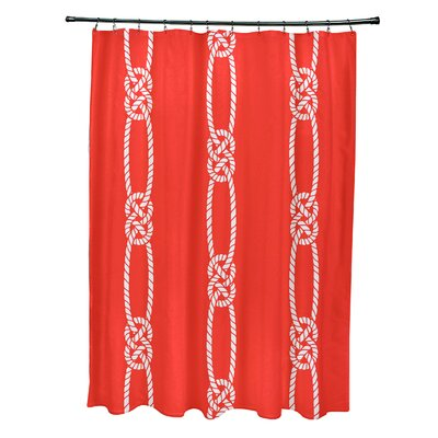 Hancock Tom Foolery Stripe Shower Curtain Color: Orange