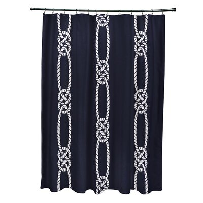 Hancock Tom Foolery Stripe Shower Curtain Color: Navy Blue