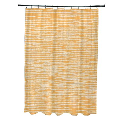 Hancock Marled Knit Geometric Print Shower Curtain Color: Yellow
