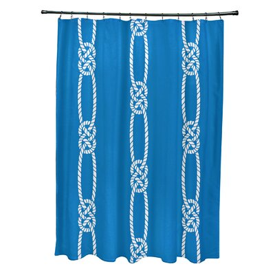 Hancock Tom Foolery Stripe Shower Curtain Color: Blue