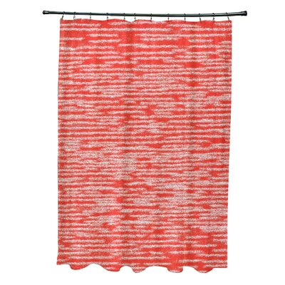 Hancock Marled Knit Geometric Print Shower Curtain Color: Orange