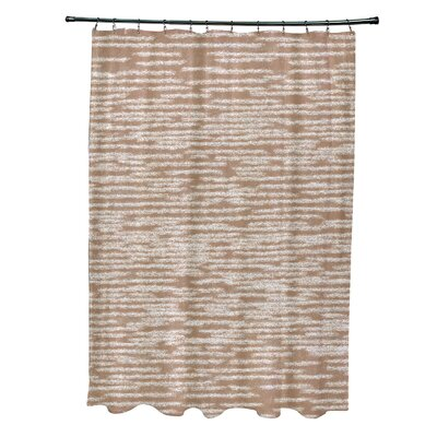 Hancock Marled Knit Geometric Print Shower Curtain Color: Taupe