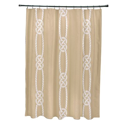 Hancock Tom Foolery Stripe Shower Curtain Color: Beige/Taupe
