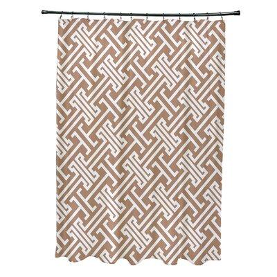 Hancock Leeward Key Geometric Shower Curtain Color: Beige/Taupe