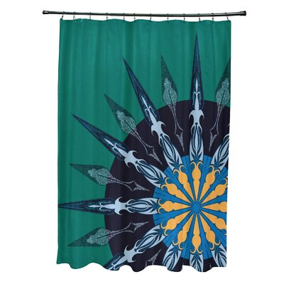 Hancock Sailors Delight Geometric Print Shower Curtain Color: Green