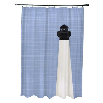 Hancock Light House Geometric Print Shower Curtain