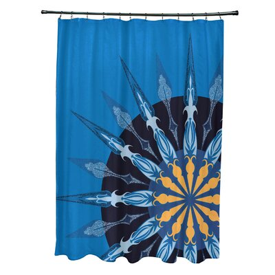 Hancock Sailors Delight Geometric Print Shower Curtain Color: Blue