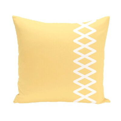 Layton Throw Pillow Size: 26 H x 26 W, Color: Yellow
