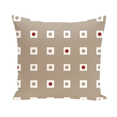 Layton Geometric Throw Pillow Size: 16 H x 16 W, Color: Taupe / Red