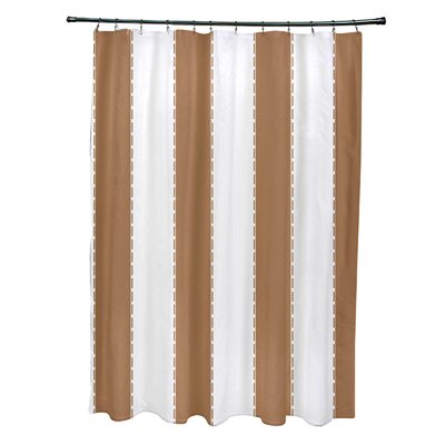 Merrill Shower Curtain Color: Brown