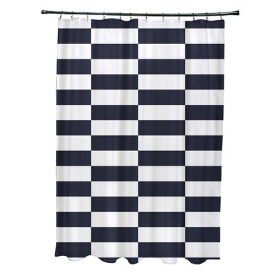 Merrill Shower Curtain Color: Navy Blue