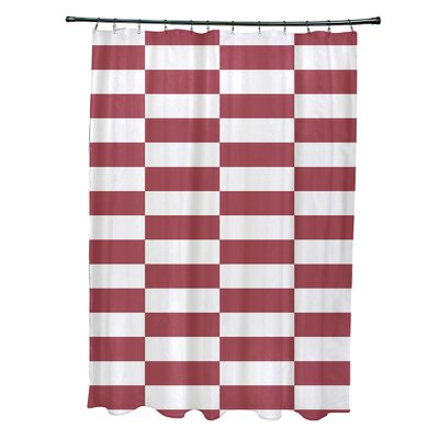 Merrill Shower Curtain Color: Rust