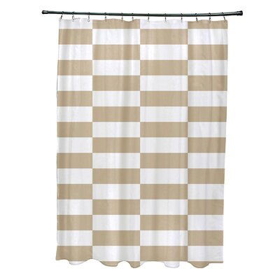 Merrill Shower Curtain Color: Beige
