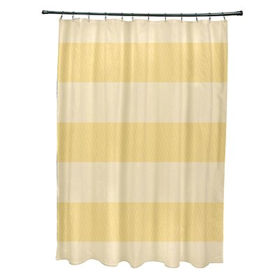 Layton Stripes Shower Curtain Color: Yellow