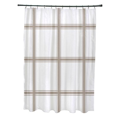 Layton Geometric Shower Curtain Color: Beige